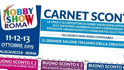 HS Roma- Online il Carnet Sconti per l'edizione Autunno 2019